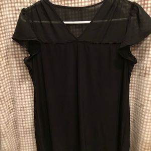 White House Black Market Tops - White House Black Market flutter sleeve shirt